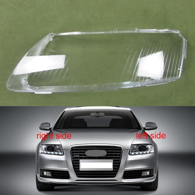 헤드 램프 플라스틱 커버 전등 갓 헤드 라이트 커버 유리 전조등 쉘 2006 2007 2008 2009 2010 2011 Audi A6 A6L C6