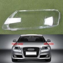 Cubierta de plástico para faros delanteros cubierta de cristal para Audi A6 A6L C6, 2006, 2007, 2008, 2009, 2010, 2011