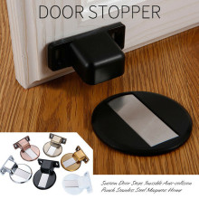 1/8 pcs Suction Door Stops Invisible Anti-collision Punch Stainless Steel Magnetic door stop Home wall protector