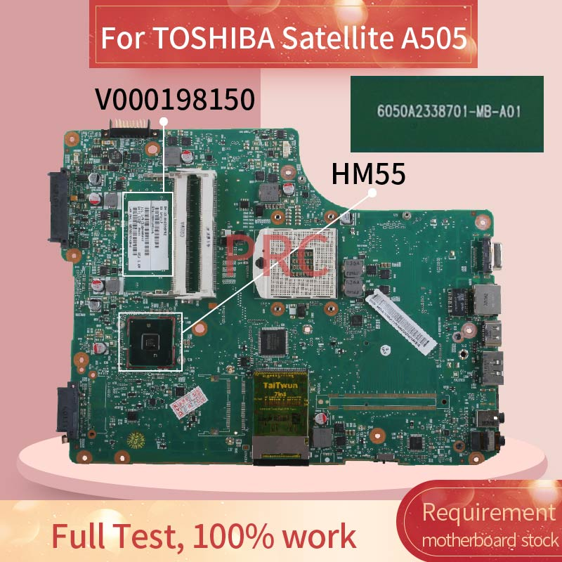 V000198150 For <font><b>TOSHIBA</b></font> Satellite <font><b>A505</b></font> Notebook Mainboard 6050A2338701 HM55 DDR3 Laptop <font><b>motherboard</b></font> image