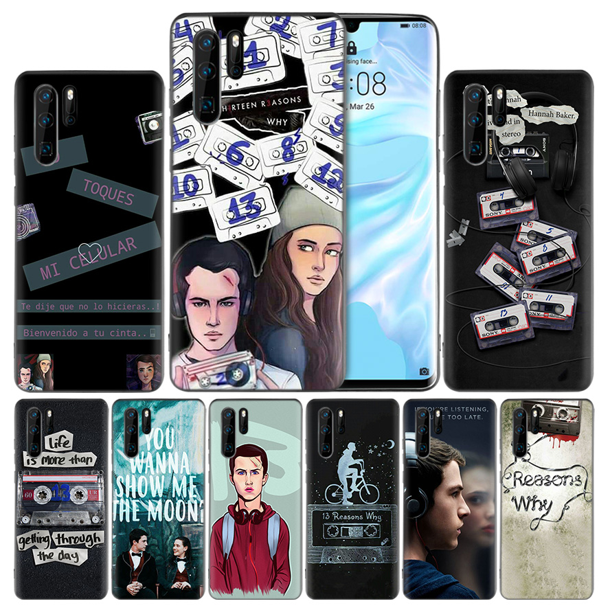 <font><b>13</b></font> <font><b>Reasons</b></font> <font><b>Why</b></font> Silicone <font><b>Phone</b></font> <font><b>Case</b></font> Cover for Huawei Mate 30 20 10 P30 P20 Nova 5 5i Lite Pro P Smart Z Plus 2019 Fundas Capa image