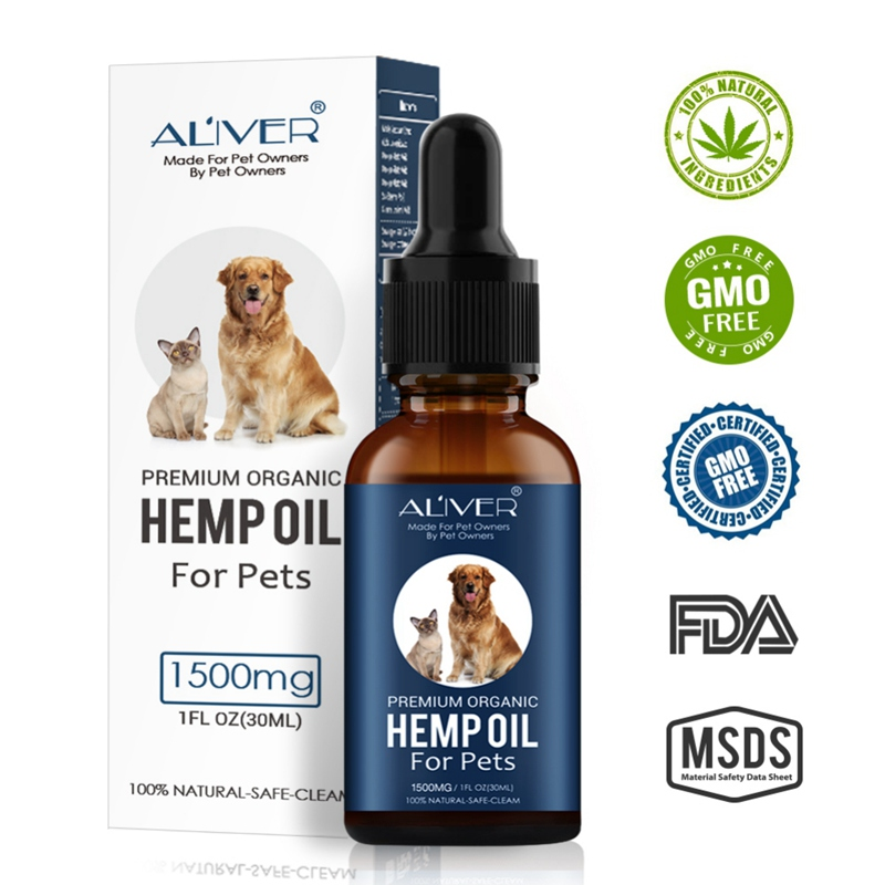Permium Arganic Pet Hemp Oil for dogs Natural Herbs of Pet Care Oil Anxiety Relief Pain Joint hip Strengtheens immunity New image