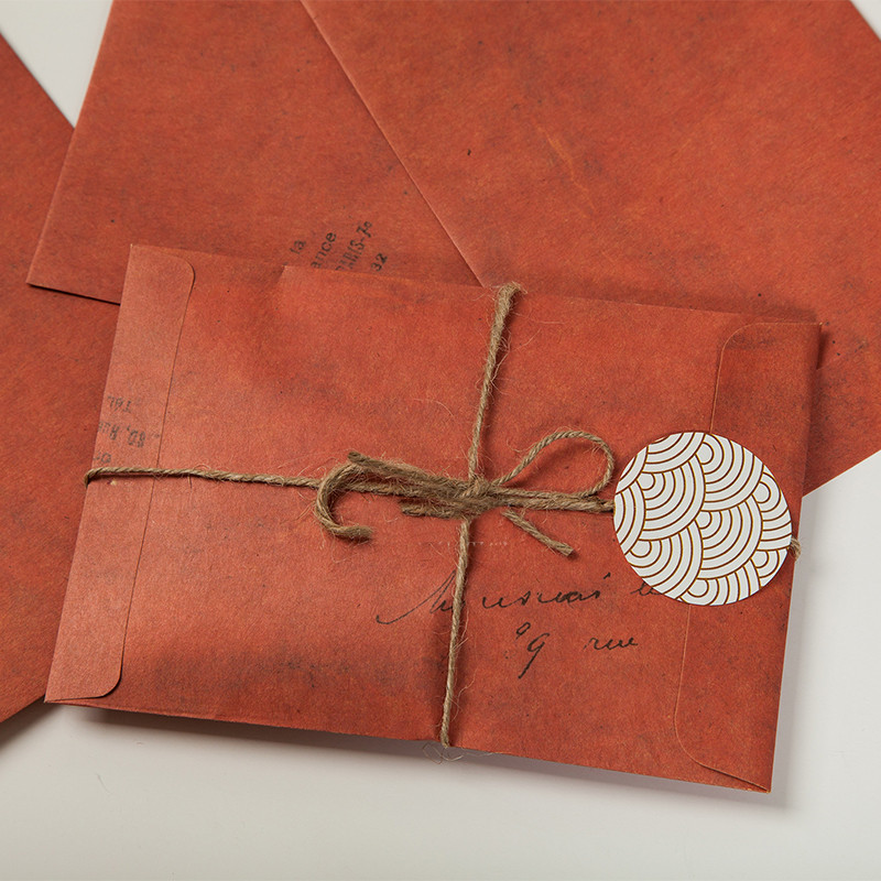 5pcs/lot 16x11cm Old Style Vintage Paper Envelope Brown Kraft Packaging For Retro Postcard Invitation Card Small Gift Letter