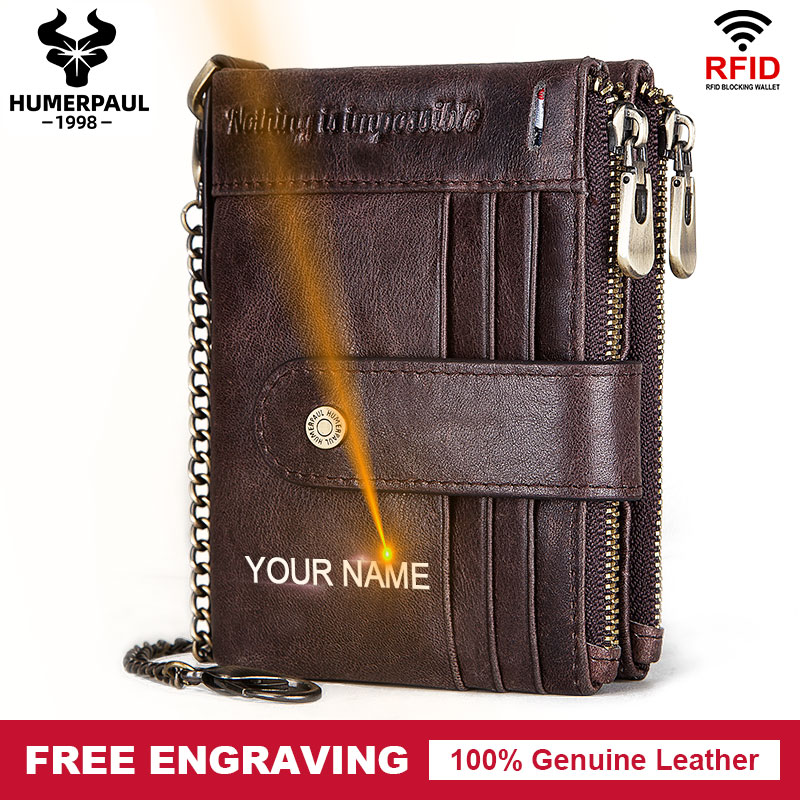Free Engrave Men Wallets Short Leather Wallet Coin Purse Male RFID Slim Card Wallet Casual Multi-function Card Bag Walet Pocket