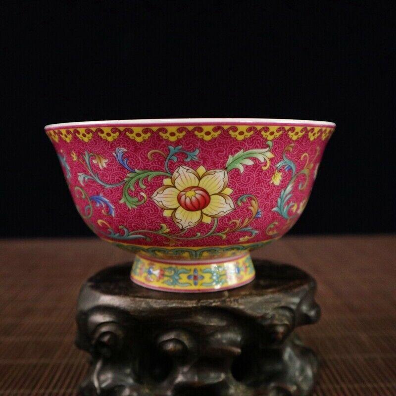 Chinese Old Porcelain Pastel Enamel Flower Pattern Bowl|Statues & Sculptures|Home & Garden - title=