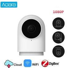 Aqara cámara inteligente G2 con Hub de enlace, IP, Wifi, inalámbrica, Zigbee, 1080P, HD, vista de 140 grados, voz para Xiaomi Mijia Smart mi home