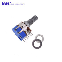 цена на Stereo B50K Ohm Dual Linear B Type Taper Volume Control Potentiometer Switch 50K R125G