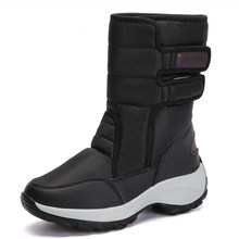 Vrouwen Laarzen Winter Schoenen Vrouwen Snowboots Vrouwelijke Waterdichte Winter Plus Fluwelen Warm Mid-kuit Laarzen Dames Casual Botas mujer(China)