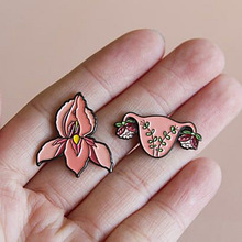 Enamel Brooch Badge Pins Flower Uterus Feminism Metal Fashion Jewelry-Accessories Gifts