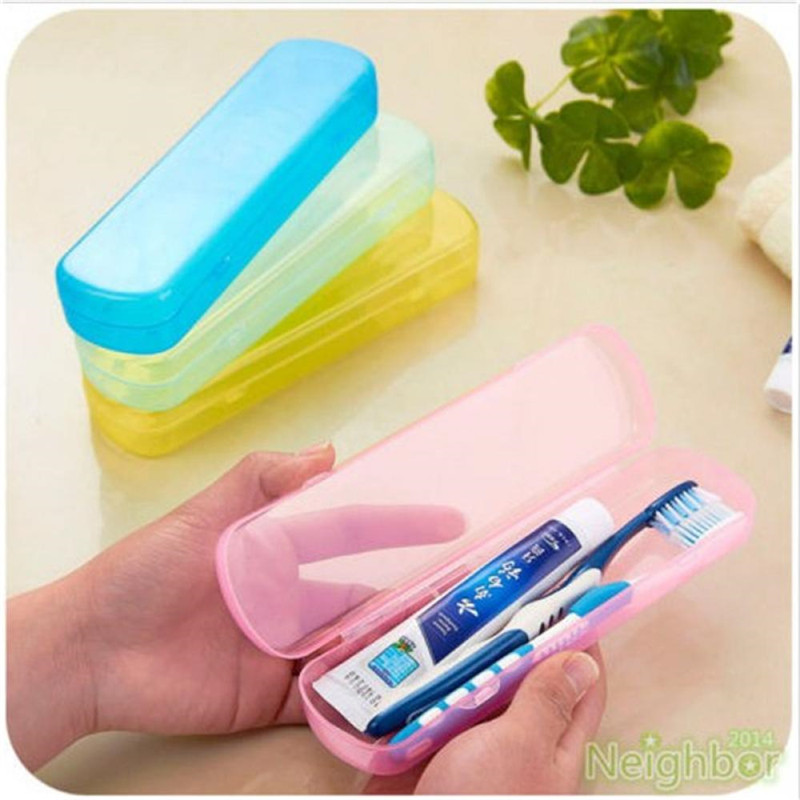 Best Price Modern Design Portable Candy Colors Hygienic Travel Camping Toothpaste Toothbrush Holder Protect Case Storage Box image