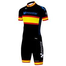 Movistar – kit de cyclisme pour hommes, combinaison de vélo à manches courtes, combinaison de Triathlon, vtt, gel 20D