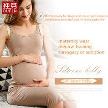 Поддельные беременных живота силиконовые искусственные живота для переодевания актера модель женщины желе живота 1000-1500 г/шт