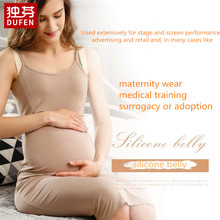 Pregnant Fake Silicone Artificial Belly for Cross Dressing  Actor  Model  Women  Jelly Tummy