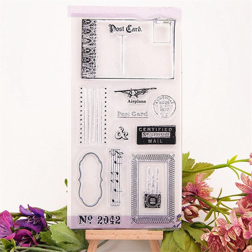 Горячая продажа открытка прозрачный штамп/силиконовый валик для запечатывания штамп DIY альбом для скрапбукинга/производство карт