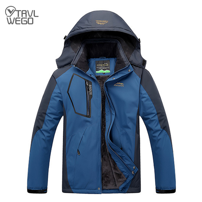 TRVLWEGO -20 Degree Winter Ski Jacket Super Warm Hiking Men Women Waterproof Breathable Trekking  Jacket Outdoor Skiing Coat