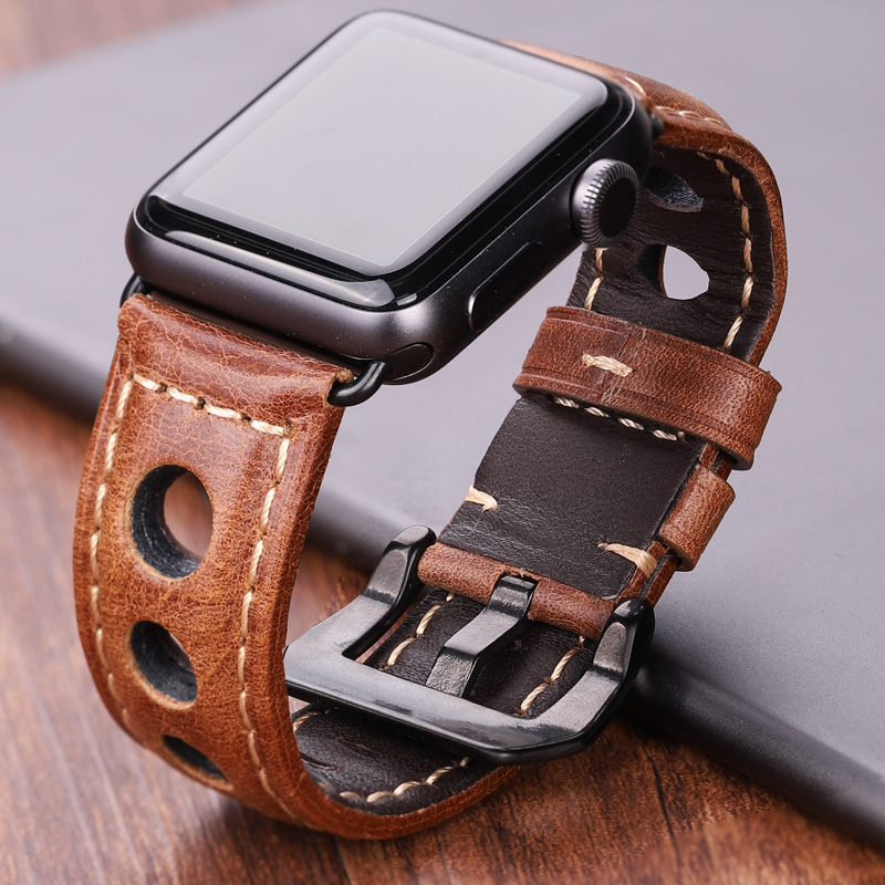Genuine Leather Watchbands For Apple Watch Band 42 Mm 38mm Women Men Watch Accessories Strap For Iwach 44mm 40mm Series 5 4 3 2