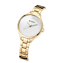 CURREN Female Watch Fashion Luxury Women Watches New Arrival Stainless Steel Quartz Wrist Waterproof Valentines Day Gift