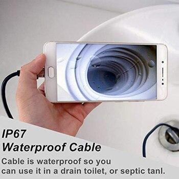 720P אנדוסקופ מצלמה אנדרואיד USB אנדוסקופ פיקוח מצלמה 8mm עדשת 1m כדי 5m נחש חוט Led אור עמיד למים עבור טלפון ומחשב