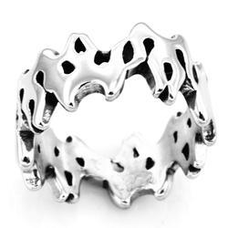 Fanssteel anel de banda de ligação de chama de jóias de aço inoxidável fsr14w07