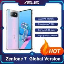 Asus zenfone 7 versão global 8gb ram 128gb rom snapdragon 865 6.67 mah smartphone 5000mah nfc android q 90hz 5g smartphone