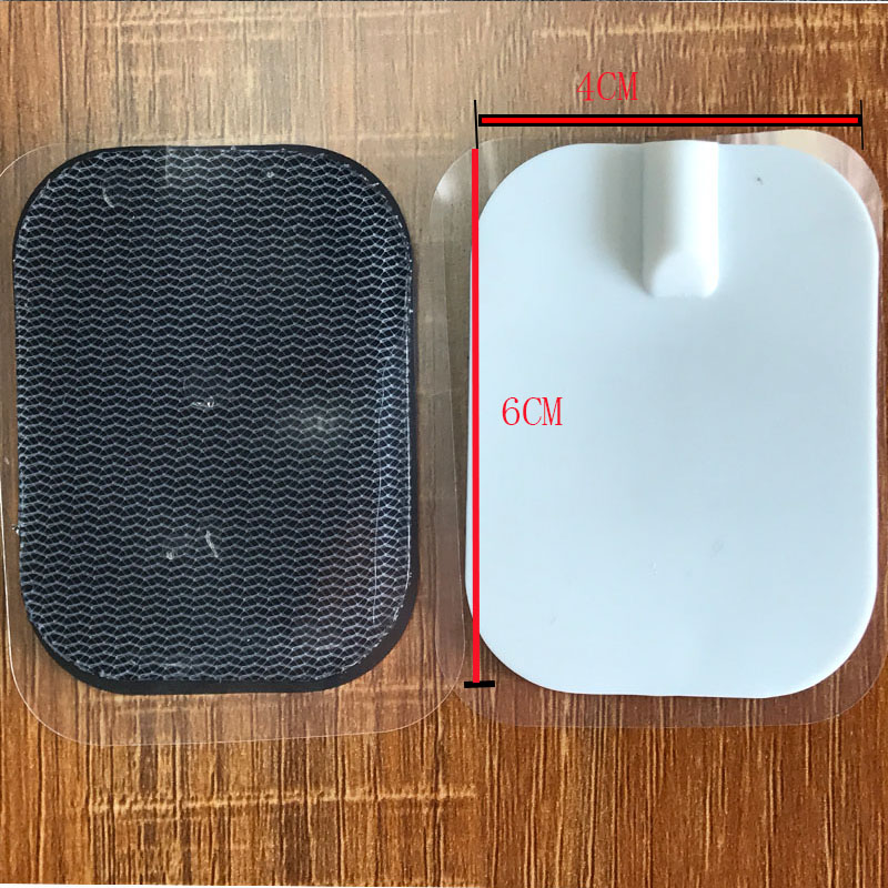 10Pcs = 5 Paare/los Zehn Elektrode Massager Pads Patches Pin Typ Physikalische für Stimulator Massage Digitale Therapie Maschine 6*4 Cm