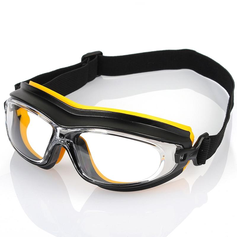 Güvenlik gözlükleri toz rüzgar kum geçirmez şok dayanıklı koruyucu gözlük Anti kimyasal asit sprey boya sıçrama çalışma gözlük title=