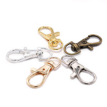 10pcs/lot Split Key Ring Swivel Lobster Clasp Connector For Bag Belt Dog Chains DIY Jewelry Making Findings