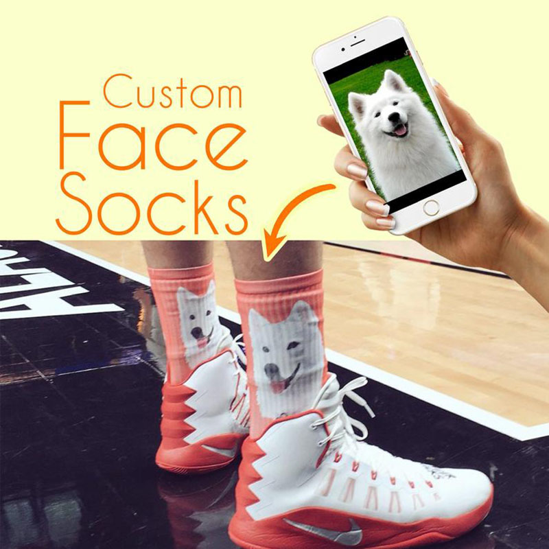 3D Printed Custom Pet Sock Custom Dog Face Socks Personalized Dog Socks Custom Dog Birthday Gifts Dog Lover Socks Christmas Gift