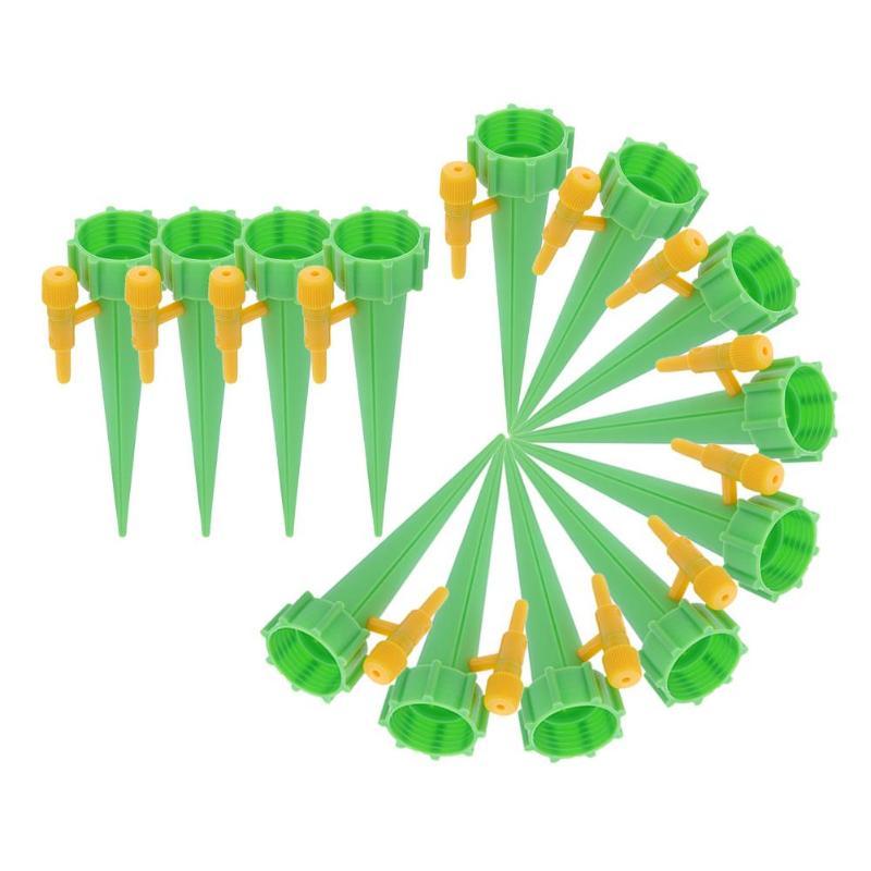 18 шт. автоматический полив для полива, заводы для помещений, бытовой автоматический капельный полив, система полива, автоматический полив, Спайк - Цвет: 18PCS Green