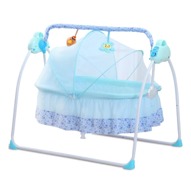 Hc4155a2ac77d42c1832d5ae7edf8f560P smart electric Baby cradle baby rocking chair  intelligent sleepy newborn cradle baby swing moises para bebe baby rocker culla