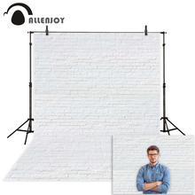Allenjoy fondo de fotografía pared de ladrillo blanco puro fondo de estudio de fotografía para disparar niño boda recién nacido bebé fotofono