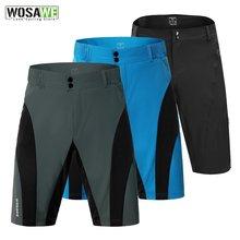 Мужские шорты wosawe mtb велосипедные для горного велосипеда