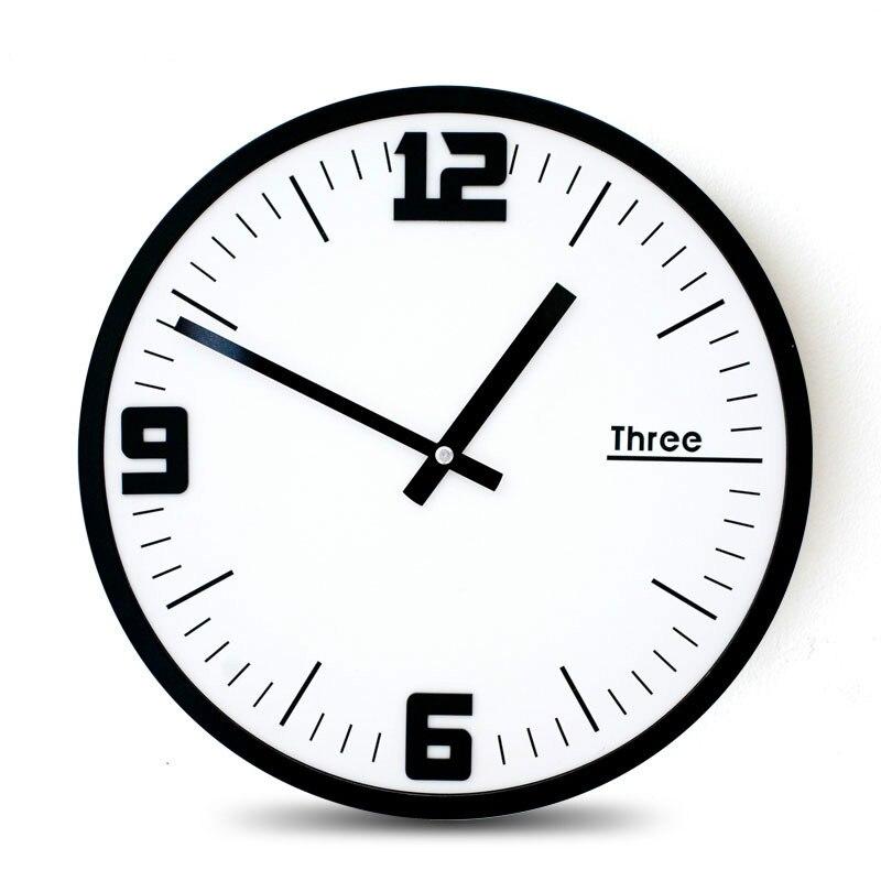 Mandelda 12 дюймов круглые деревянные рамки классические часы ретро не тикающие 3D кварцевые домашние декоративные настенные часы акриловые стр...