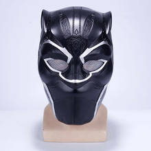 2018 Movie Black Panther T'Challa Superhero Masks Halloween Cosplay PVC Helmets Full Head Cosplay Prop Mask(China)