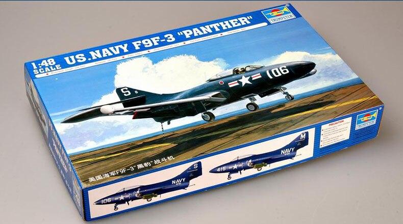 Trompeter-avião de brinquedo em escala 1 48,