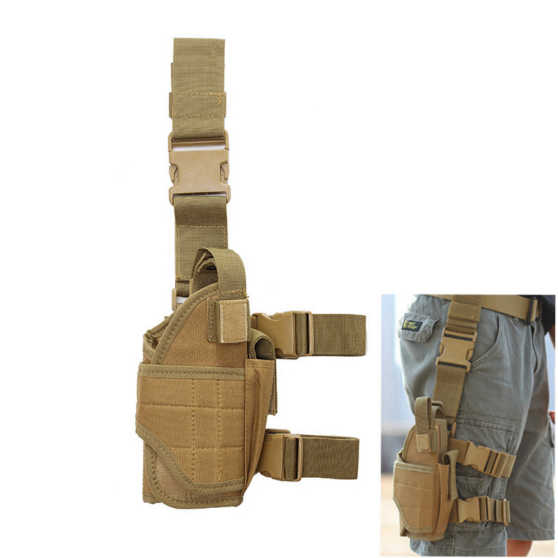 Tactical Gun Holster Multifunctional Tornado Right Leg Cover CS Army Camouflage Portable Waist Case Tactical Quick Pull Gun Case