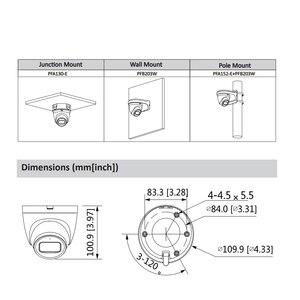 Image 2 - Dahua Originele IPC HDW2431T AS 4MP Hd Poe Ingebouwde Microfoon Sd kaartsleuf H.265 IP67 30M Ir Starlight Ivs Upgradeable dome Ip Camera