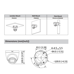 Image 2 - داهوا الأصلي IPC HDW2431T AS 4MP HD POE بنيت في هيئة التصنيع العسكري SD فتحة للبطاقات H.265 IP67 30M الأشعة تحت الحمراء ضوء النجوم IVS ترقية قبة كاميرا IP