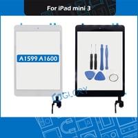 Для iPad mini 3 A1599 A1600 Сенсорная панель дигитайзер Переднее стекло + кнопка Home