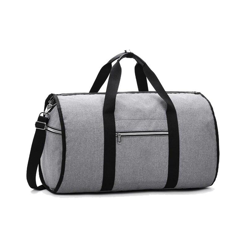 Convertible 2 in 1 Garment Bag with Shoulder Strap, Luxury Garment Duffel Bag for Men Women Hanging Suitcase Suit Travel Bags