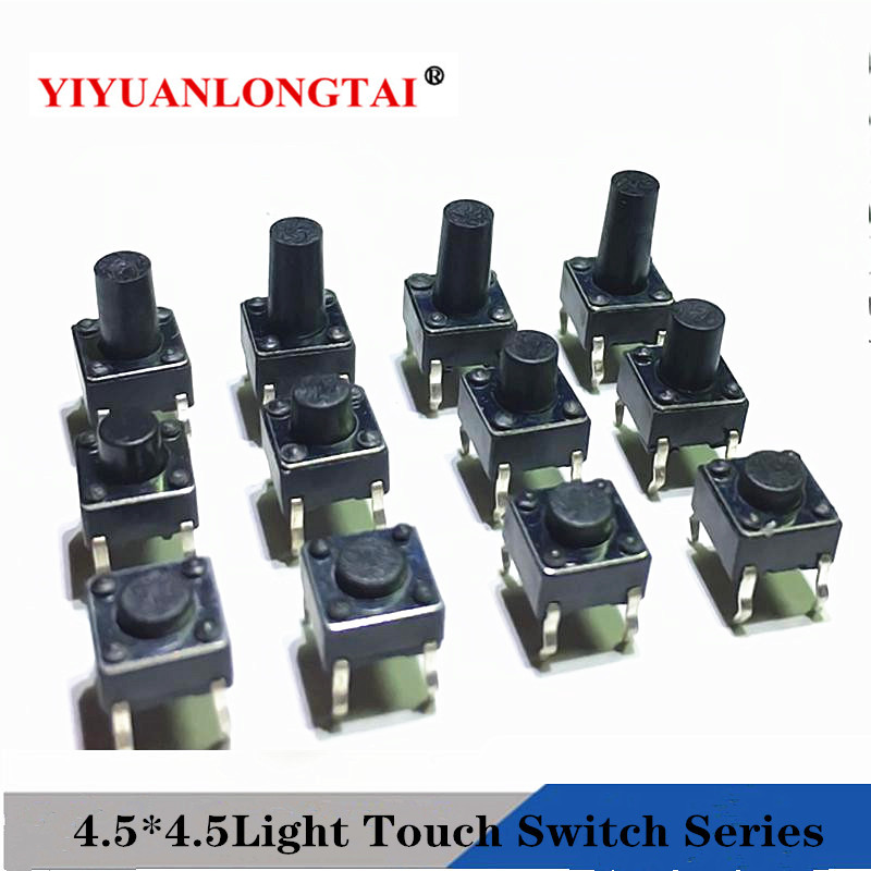 50Pcs Tactile Push Button Switch Tact Switch 4.5*4.5*3.8MM 4-pin DIP