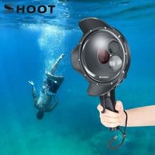 تبادل لاطلاق النار الغوص قبة ميناء مقاوم للماء حافظة تصفية للتحويل قبة ل GoPro بطل 7 6 5 الأسود الزناد الإسكان ل الذهاب برو 7 ملحق