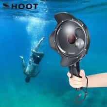 Ateş dalış Dome Port su geçirmez kılıf filtresi değiştirilebilir kubbe GoPro Hero 7 6 5 siyah tetik konut git pro 7 aksesuar