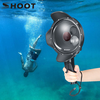 SHOOT Diving Dome Port Waterproof Case Filter Switchable Dome for GoPro Hero 7 6 5 Black Trigger Housing for Go Pro 7 Accessory upgrade version 6 dome port underwater photography shell for gopro hd hero 4 3 for taking half in half out cool photos