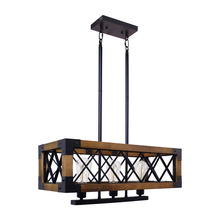 Country retro industrial wind loft solid wood pendant lamp living room dining bar coffee shop lights