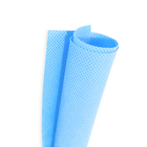 17.5cm wide PP polypropylene Non-woven fabric 30g white blue inner and outer PP spunbond non-woven fabric TJ2510(China)