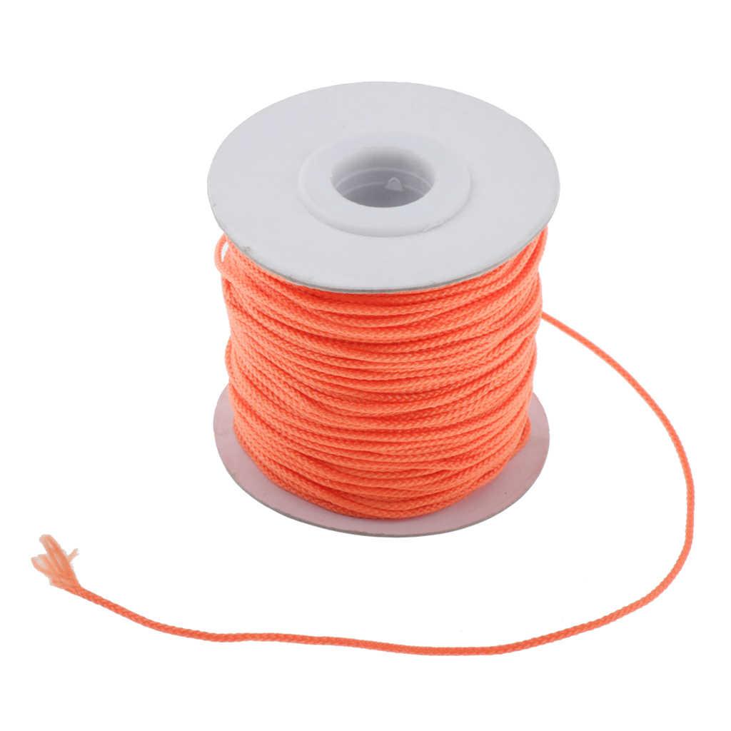 Gelb F/ür Die Tiefsee CUTICATE 2er Pack Scuba Diving Reel Line Polyester 46m Orange