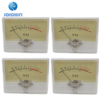 4pcs T-90 High-precision VU Meter Head Amplifier amp DB Level Meter Pre-amplifier Chassis Sound Pressure Strap with Backlight mastfuyi fy826 decibel meter noise measuring instrument db meter sound level meter max min mode with lcd backlight