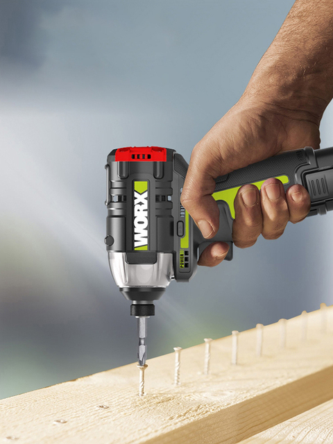 Worx 12v Brushless Motor Cordless Impact Screwdriver WU132 140Nm Adjust Torque professional tool With 2Battery And 1Charger 3