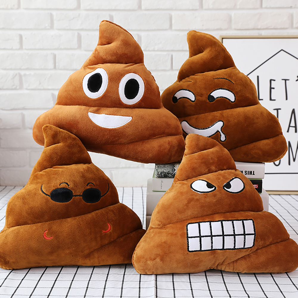 Cute Smiley Poop Cushion Pillow Stuffed Toy Poop Sofa Seat Pillow Home Decoration Creative Funny Birthday Gift Pillow